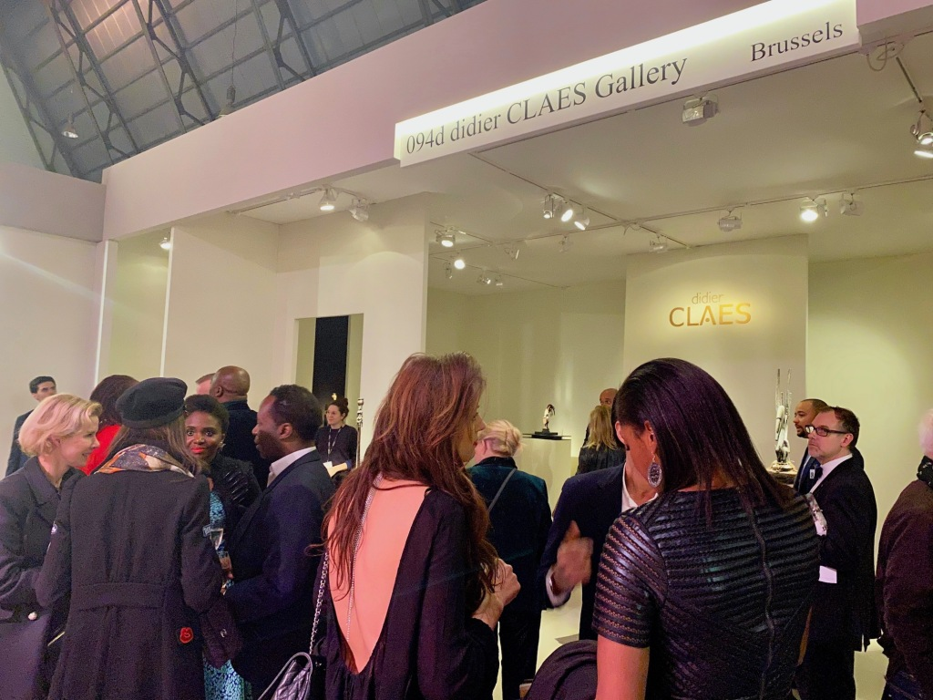 Guests of Didier Claes gallery at the opening of the Brafa art fair 2020.