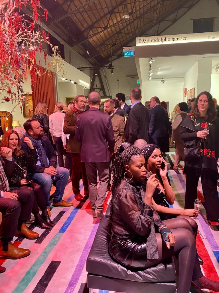 Gäste von Didier Claes auf der Kunstmesse Brafa 2020.